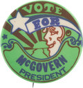 """Political:Pinback Buttons (1896-present), George McGovern: Classic Peter Max Designed """"McGovern For President"""" Button...."""