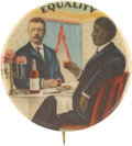 """Political:Pinback Buttons (1896-present), Theodore Roosevelt: Classic """"Equality"""" Design...."""
