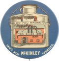 """Political:Pinback Buttons (1896-present), William McKinley: The Sought After """"Factory Pin.""""..."""
