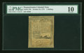 Colonial Notes:Pennsylvania, Pennsylvania October 25, 1775 1s PMG Very Good 10....