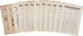 Political:Miscellaneous Political, Woman's Suffrage: Twelve English Suffrage Newspapers.... (Total: 12 Items)