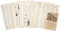 Political:Small Paper (1896-present), Woman's Suffrage: Large Collection of Magazine Articles.... (Total: 30 Items)