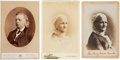 Political:Small Paper (1896-present), Woman's Suffrage: Henry Ward Beecher Cabinet Cards....