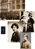 Political:Small Paper (1896-present), Woman's Suffrage: English Photographs.... (Total: 5 Items)
