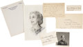 Autographs:Celebrities, Woman's Suffrage: Suffrage Leaders Autograph Material.... (Total: 5Items)