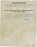 Political:Small Paper (1896-present), Woman's Suffrage: Women's Petition Against Slavery....