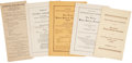 Political:Small Paper (1896-present), Woman's Suffrage: Five Suffrage Convention Programs.... (Total: 5 Items)