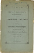 Political:Small Paper (1896-present), Woman's Suffrage: Belva Lockwood Speech Pamphlet....