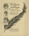 Political:Small Paper (1896-present), Woman's Suffrage: Suffrage Pageant-Tableau Program....