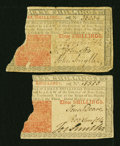 Colonial Notes:New Jersey, New Jersey March 25, 1776 3s Fair. Two Examples.... (Total: 2 notes)
