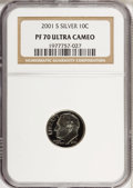 Proof Roosevelt Dimes: , 2001-S 10C Silver PR70 Ultra Cameo NGC. PCGS Population (177/0).Numismedia Wsl. Price for NGC/PCGS coi...