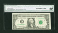 Error Notes:Ink Smears, Fr. 1917-E $1 1988A Federal Reserve Web Note. CGA Extremely Fine40.. ...