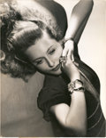 "Movie Posters, Barbara Stanwyck by George Hurrell (Warner Brothers, 1941).Portrait (10.25"" X 13.25"").. ..."