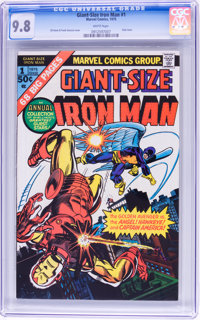 Giant-Size Iron Man #1 (Marvel, 1975) CGC NM/MT 9.8 White pages
