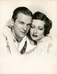 """Joan Crawford and Douglas Fairbanks Jr. by Ruth Harriet Louise (MGM, Late 1920s). Portrait Still (10"""" X 13"""")..."""
