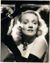 """Marlene Dietrich in """"The Lady is Willing"""" by A. L. Whitey Schafer (Columbia, 1942). Portrait (10.5"""" X 13..."""
