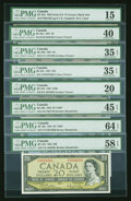 Canadian Currency: , Canadian Group Lot All PMG Graded. ... (Total: 25 notes)