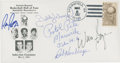Basketball Collectibles:Others, 1987 Hall of Famers Signed Cachet with Maravich....