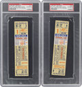 Baseball Collectibles:Tickets, 1962 New York Mets Opening Day Full Tickets Lot of 2....