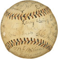 Autographs:Baseballs, 1913 Chicago Cubs Team Signed Baseball....