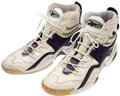 Basketball Collectibles:Uniforms, 1997-98 Shaquille O'Neal Game Worn Sneakers....