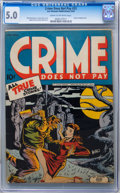 Golden Age (1938-1955):Crime, Crime Does Not Pay #33 (Lev Gleason, 1944) CGC VG/FN 5.0 Cream to off-white pages....