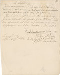 "Autographs:Non-American, Ojibwa Chief Kahkewaquonaby (Peter Jones) Autograph ManuscriptSigned Twice. One page, 8"" x 10"", Liverpool, April 19, 1832. ..."
