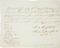 "Autographs:Non-American, Seneca Chief Cornplanter Document Signed With His Mark. One page,8"" x 6.5"", ""Buffalo, July 5th, 1819."" Docketed on vers..."