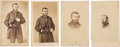 "Photography:CDVs, Ulysses S. Grant, Four Cartes de Visite, as General, all 2.5"" x 4"". One CDV has a tax stamp on..."