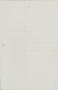 """Autographs:Authors, Samuel F. Smith Autograph Quotation Signed """"S. F. Smith"""". One page, lined, 5"""" x 7.5"""", n.d., n.p., containing two stanzas..."""