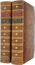 Books:First Editions, Samuel Johnson. A Dictionary of the English Language: inWhich the Words are Deduced from their Originals, and Ill...(Total: 2 Items)