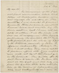 """Autographs:Military Figures, John E. Wool Autograph Letter Signed as Inspector General of the Army. Two pages, two sided with one integral blank, 8"""" x 10..."""