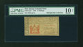 Colonial Notes:New Jersey, New Jersey 1786 3s PMG Very Good 10 NET....
