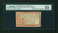 Colonial Notes:Pennsylvania, Pennsylvania April 10, 1777 6s Red and Black PMG About Uncirculated55....