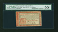 Colonial Notes:Pennsylvania, Pennsylvania April 10, 1777 12s Red and Black PMG AboutUncirculated 55 EPQ....