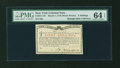 Colonial Notes:New York, New York March 5 , 1776 (Water Works) 8s PMG Choice Uncirculated 64EPQ....