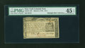 Colonial Notes:New York, New York March 5, 1776 $1/4 PMG Choice Extremely Fine 45 EPQ....