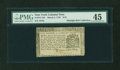 Colonial Notes:New York, New York March 5, 1776 $1/8 PMG Choice Extremely Fine 45....