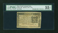 Colonial Notes:New York, New York March 5, 1776 $1/6 PMG About Uncirculated 55 EPQ....