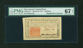 Colonial Notes:New Jersey, New Jersey March 25, 1776 3s John Hart PMG Superb Gem Unc 67 EPQ....