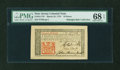 Colonial Notes:New Jersey, New Jersey March 25, 1776 18d John Hart PMG Superb Gem Uncirculated 68 EPQ....