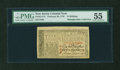 Colonial Notes:New Jersey, New Jersey February 20, 1776 15s PMG About Uncirculated 55....