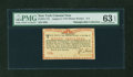 Colonial Notes:New York, New York August 2, 1775 (Water Works) 8s PMG Choice Uncirculated 63EPQ....