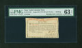 Colonial Notes:New York, New York August 25, 1774 (Water Works) 1s PMG Choice Uncirculated63 EPQ....