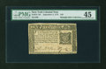 Colonial Notes:New York, New York September 2, 1775 $10 PMG Choice Extremely Fine 45....