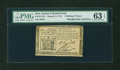 Colonial Notes:New Jersey, New Jersey January 9, 1781 1s6d PMG Choice Uncirculated 63 EPQ....