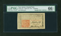 Colonial Notes:New Jersey, New Jersey March 25, 1776 6s John Hart PMG Gem Uncirculated 66EPQ....
