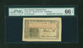 Colonial Notes:New Jersey, New Jersey March 25, 1776 12s John Hart PMG Gem Uncirculated 66EPQ....