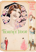 Paintings, AMERICAN ARTIST (20th Century). Florence Vidor, The Lovely Orchid Lady of the Screen. Mixed-media on board. 22.75 x 16.2...
