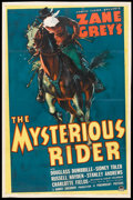 """Movie Posters:Western, The Mysterious Rider (Paramount, 1938). One Sheet (27"""" X 41""""). Western.. ..."""